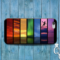 iPhone 4 4s 5 5s 5c 6 6s plus + iPod Touch 4th 5th 6th Gen Cute Flying Boy Fantasy Land Neverland Ocean Rainbow Cool Phone Cover Custom Case