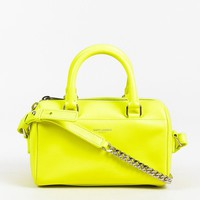 "Saint Laurent Neon Yellow ""Classic Duffle Toy"" Bag"