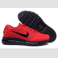 Tagre™  NIKE Trending Fashion Casual Sports Shoes AirMax section Red black hook soles