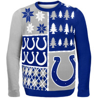 Indianapolis Colts Busy Block Ugly Sweater – Royal Blue