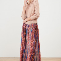 Amir Printed Stripe Skirt with Ties