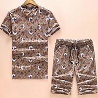 Gucci Trending Animals Letter Print Shorts Sleeve Set Two-Piece I-A00FS-GJ