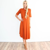 Romy Dress in Rust