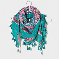 AEO Printed Tassel Scarf | American Eagle Outfitters