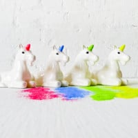 Neon Unicorn Glitter Dispenser Magic Rainbow Sparkle that GLOWS