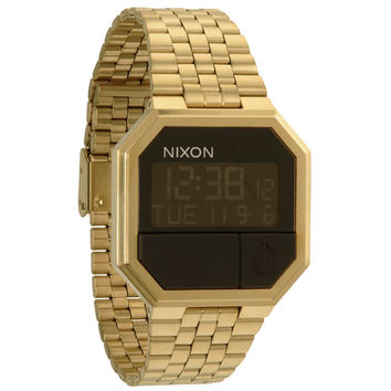 Nixon The Re-Run Watch All Gold One Size For Men 21255562101