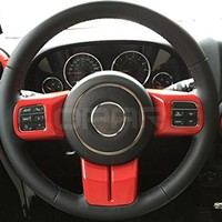 Opar Red Steering Wheel Cover Trim for 2007 - 2016 Jeep Wrangler - Set
