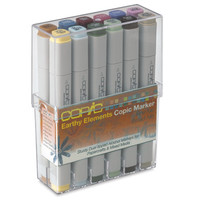 Save On Discount Copic Original Art Marker, Broad/Fine Tips, Earthy, Set of 12 & More Double Ended Markers at Utrecht