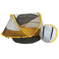 Baby Portable Travel Tent Bed with UV Protection and Carry Bag, Yellow