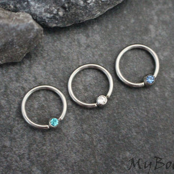 Crystal Captive Bead Rings