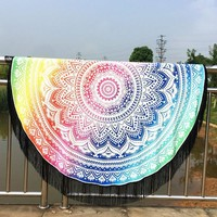 Psychedelic Dreams Rainbow Tapestry