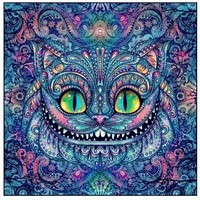 5D Diamond Painting Abstract Cheshire Cat Kit