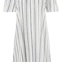 Stripe Bardot Dress - Dresses - Clothing