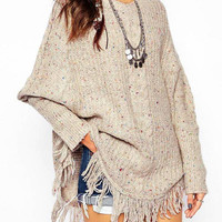 Cable Knit Jumper with Tassel