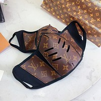 LV Louis Vuitton Best-selling Spliced Printed Highest Safety Mask (Safely Sterilized)
