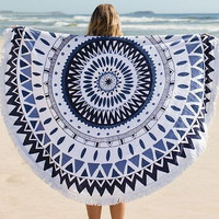 MyNeLo  Hippie Round Mandala Tapestry Indian Wall Hanging Beach Throw Towel Yoga Mat, home Decor Tapestry