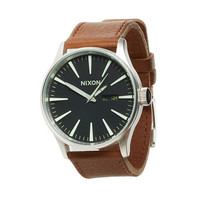 Nixon The Sentry Leather Black/Saddle - Zappos.com Free Shipping BOTH Ways