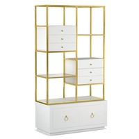 Cynthia Rowley for Hooker Furniture Dining Room Swan Room Divider w/ File Storage 1586-10443-WH3