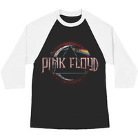 Pink Floyd Men's  Dark Side Baseball Jersey Black/White