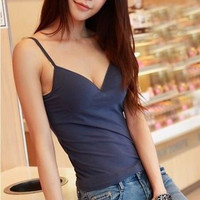 Adjustable Strap Padded Bra Tank Top