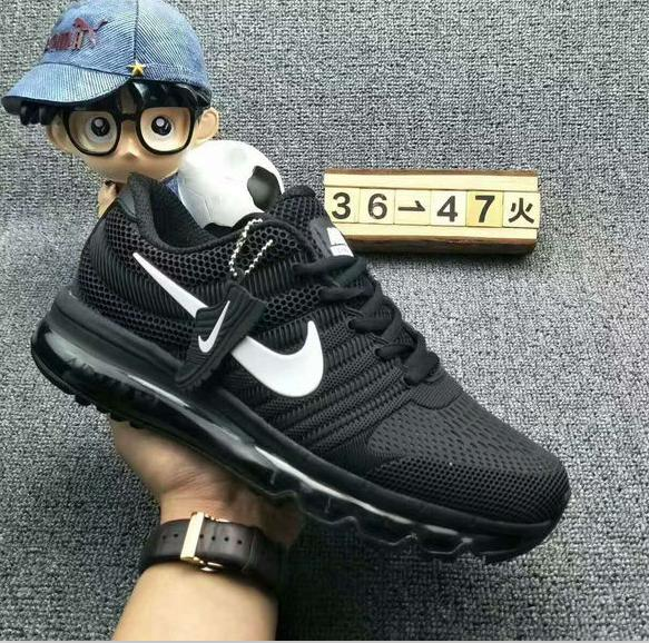 Image of NIKE AIR MAX Fashion Sport Casual Shoes Sneakers Black-white hook
