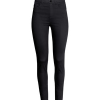 H&M - Slim-fit Pants High waist - Black - Ladies