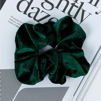 Emerald Velvet Scrunchie | Princess Polly