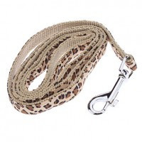 """Adjustable Leopard Prints Style Harness with Leash for Pets Dogs (Assorted Colors  120cm/47.2"""")(Yellow) - Default"""