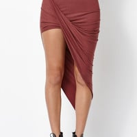 Kendall and Kylie Draped Asymmetrical Skirt at PacSun.com