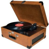 Amazon.com: Crosley CR49 Traveler Portable Turntable (Tan): Electronics