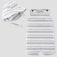 Baby Boys' 2pc Stripe Romper and Hat Set - Just One You™ Made by Carter's® Blue