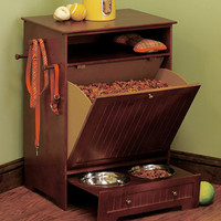 Pet Food Cabinet with Bowls