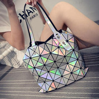 Hologram Laser Geometric Handbags