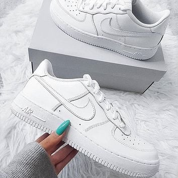 Nike Air Force 1 AF1 Low Triple White Sneakers Shoes