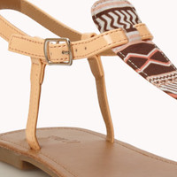 Tribal-Inspired Thong Sandals