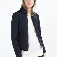 CONTRAST KNIT JACKET - View All-OUTERWEAR-WOMAN | ZARA United States