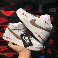 Nike Air Force 1 AF1 trendy wild men and women high-top sports shoes
