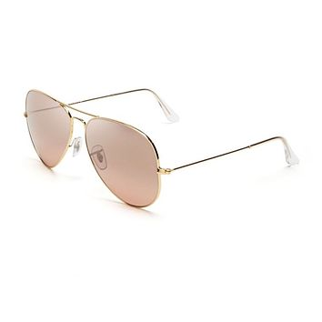 Ray-Ban RB 3025 001/3E 62mm Aviator Sunglasses Gold / Brown Pink Mirror Lens