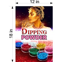 Dipping Powder 04 Wallpaper Poster Decal with Adhesive Backing Wall Sticker Decor Nail Salon Sign Vertical