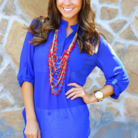 RESTOCK:Feeling Relaxed Top/Tunic: Royal Blue | Hope's
