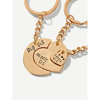 Heart Design Keychain Set 3pcs