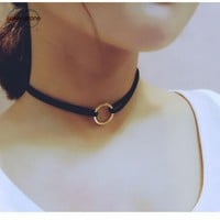 New Leather Choker Charm Necklace Vintage Hippy Choker Leather Necklace