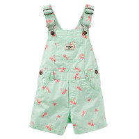 Tropical Schiffli Twill Shortalls