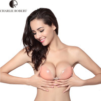 New Sexy Lady's Girls Stealth Silicone Adhesive Stick On Gel Push Up Strapless Backless Bra Cup A B C D Silicone