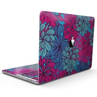 Vibrant Colorful Floral Sprouts - MacBook Pro with Touch Bar Skin Kit