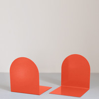 Pair of Folded Metal Bookends