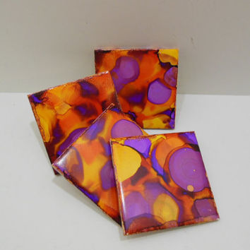 Drink Coasters - Decorative Ceramic Tile -  Tile Coaster Set