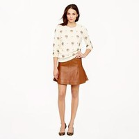 Collection fluted skirt in leather - skirts - Women's new arrivals - J.Crew