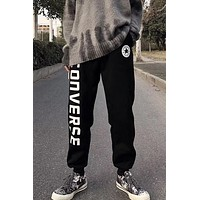 Converse tide brand men's and women's casual sports pants Black