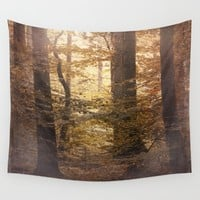 Autumn Came, With Wind & Gold. Art Print by ALLY COXON